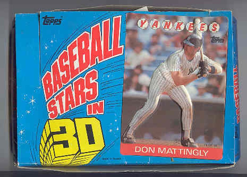 1986 Topps Baseball Stars In 3d Opened Box With Original Wrappers Many Hall Of Famers And Stars Nice Free Shipping