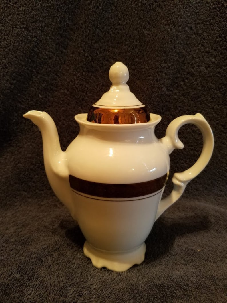 Vintage Leart Teapot And Sugar Bowl Serving Set Made In Brazil Excellent Condition Nice
