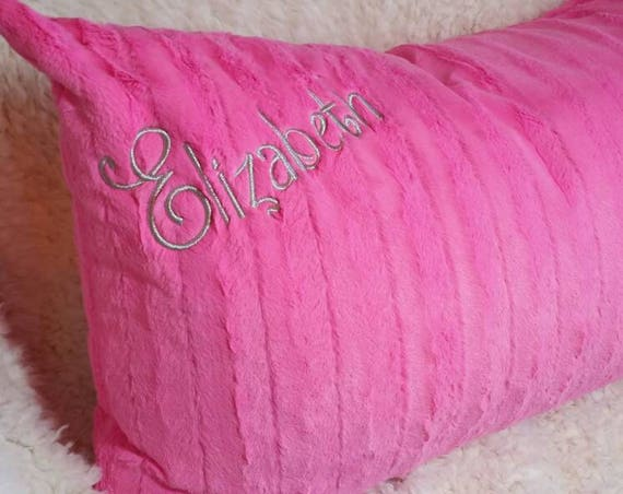 Hot Pink Faux Mink Fur Pillow Covers for Body Pillows, King Size Bed Shams, Standard Bed Pillow Shams, Euro Shams Decorative Pillow Covers