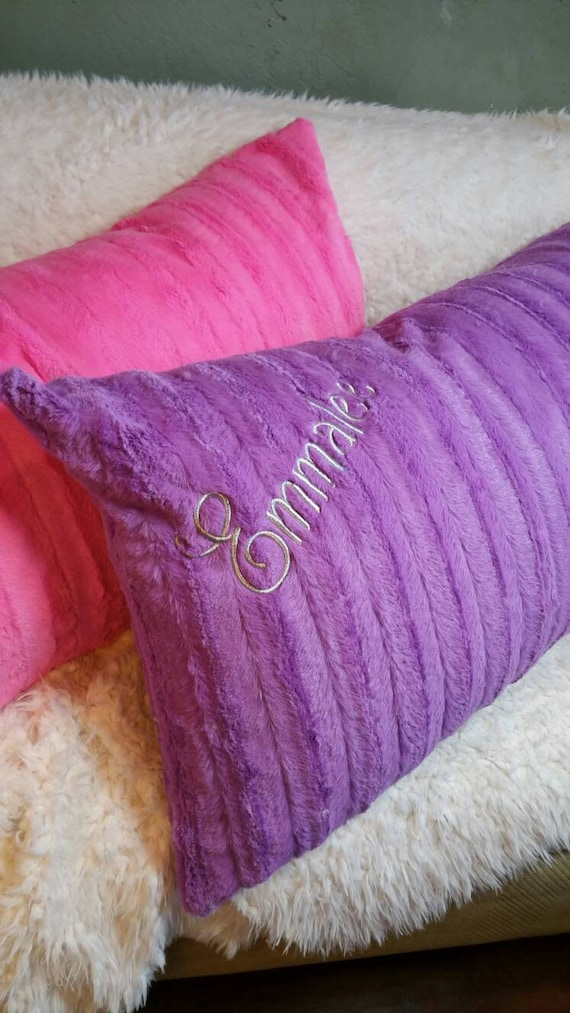 Purple Faux Fur Pillow Covers for Body Pillows, King Size Bed Shams, Standard Bed Pillow Shams, Euro Shams and Decorative Pillow Covers