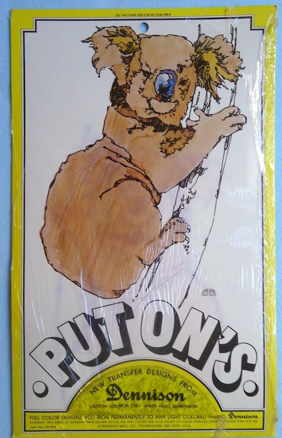 Original Vintage I Love You This Much Koala Bear Iron On Transfer