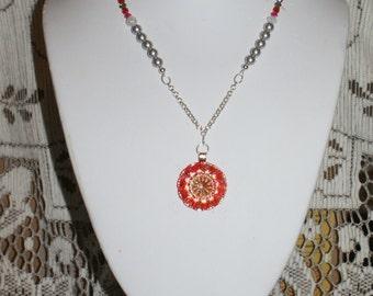 Czech Glass Button Necklace