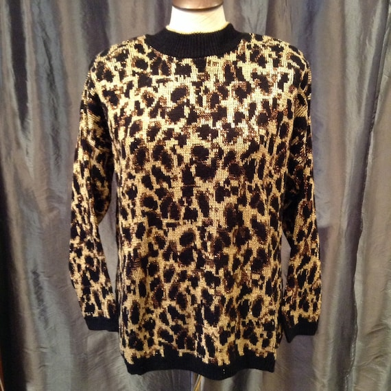 Women/'s Leopard Dress SZ Large