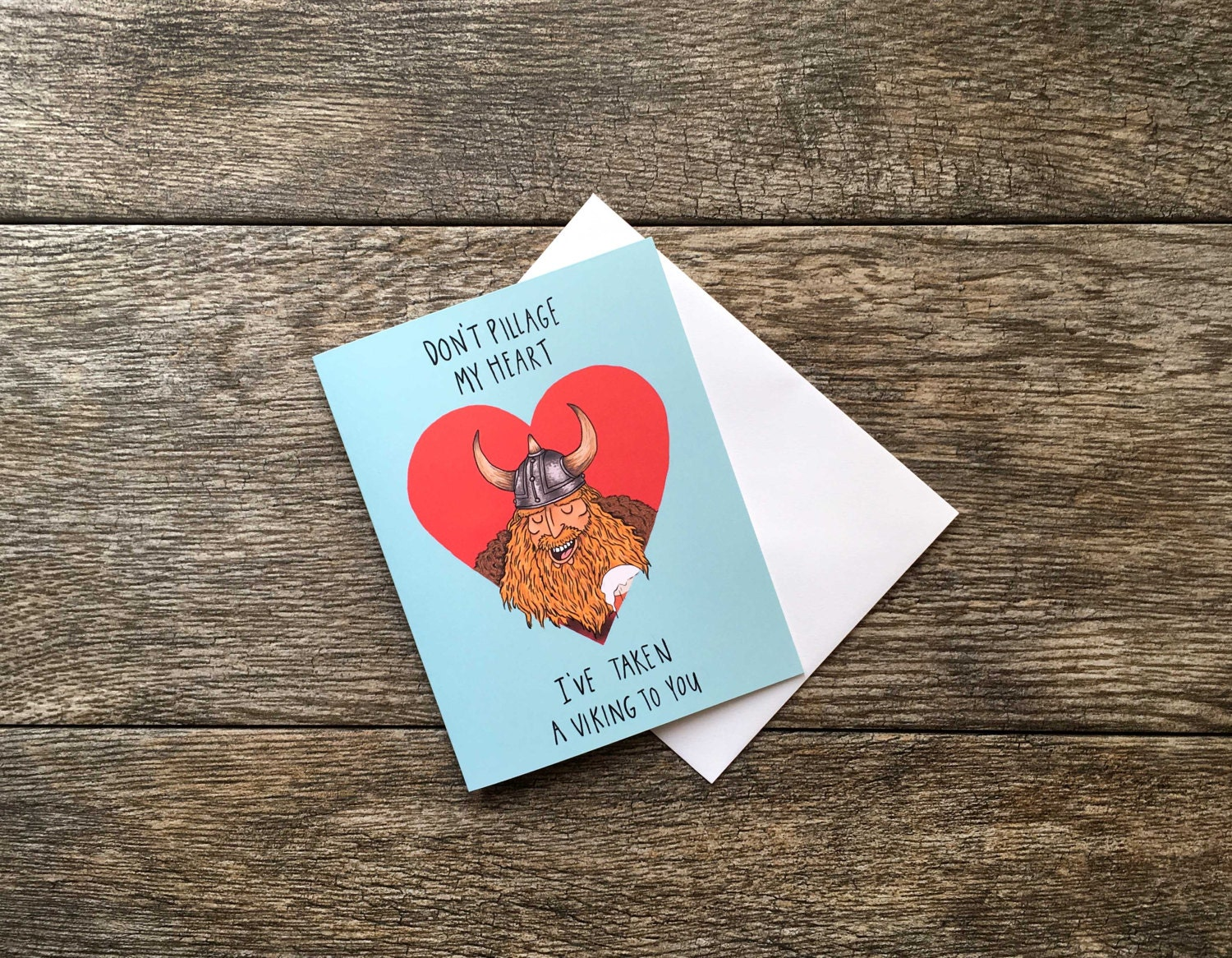 Funny Love Card Viking Valentines Day Greeting Card Etsy