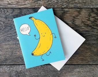 Hello Banana Greeting Card