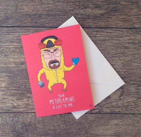 Breaking Bad Heisenberg Meth Valentine S Card Etsy