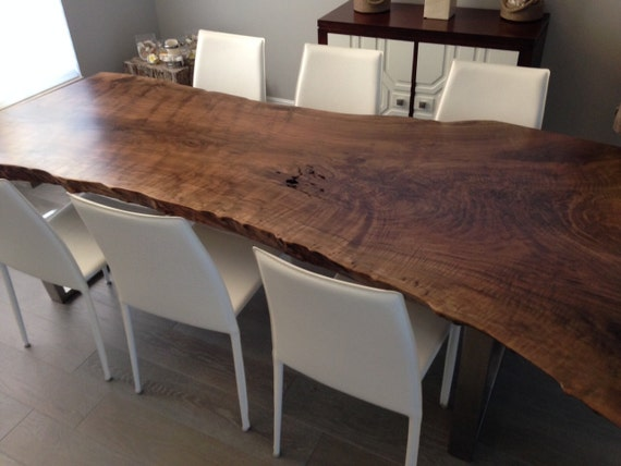 Live Edge Dining Table Live Edge Table Wood Slab Dining Etsy
