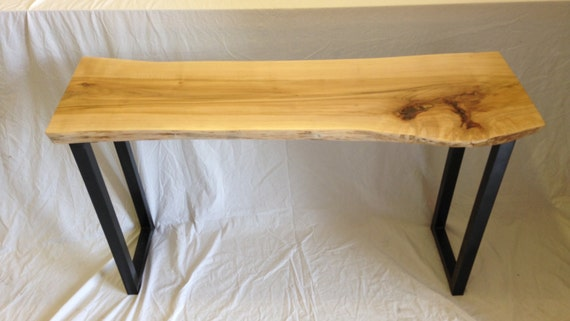 Live Edge Console Table   Wood Slab Console Table Sofa Table Maple Table  (37)