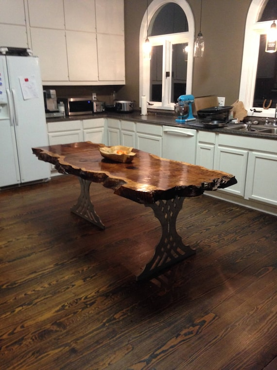 Kitchen Island - Live Edge Kitchen Island - Live Edge Table - Live Edge  Slab Table - Wood Kitchen Island