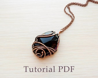Wire wrapped pendant without soldering - Tutorial wire wrap - DIY project- Pendant with cabochon