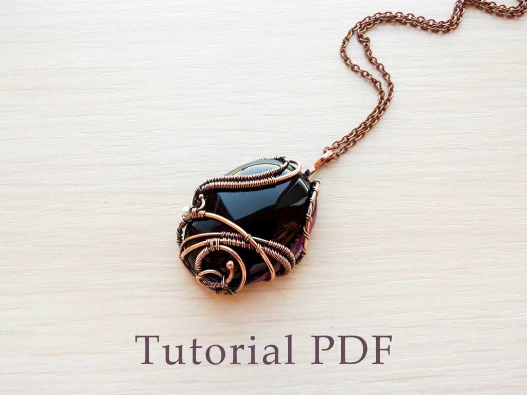 Wire wrapped pendant without soldering - Tutorial wire wrap - DIY ...