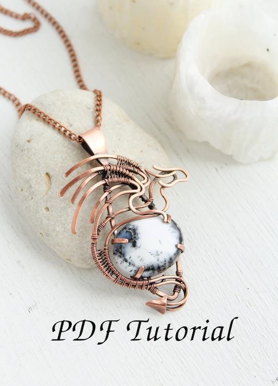 Wire Tutorial Pendant Dragon Copper Soldering Diy Project Wire Etsy