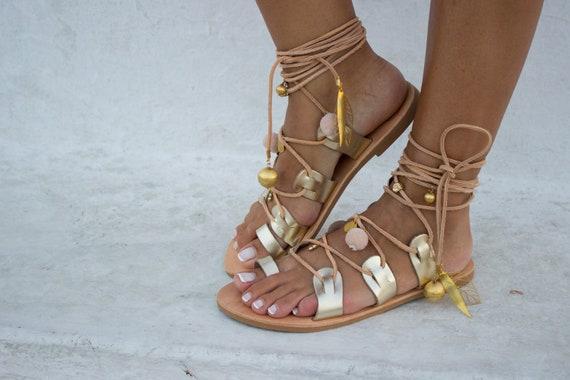 fbc65adc270c RiRiPoM Boho Sandals Pom Pom Sandals Bridal SandalsGypsy