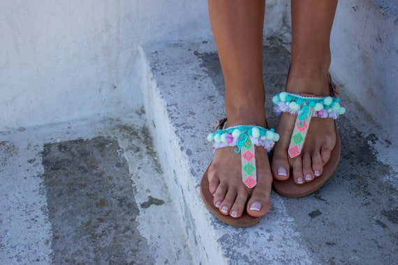 sandales Pom Boho sandales sandales sandales grecques Pom Boh Chic sandales RiRiPoM RqAwXS6