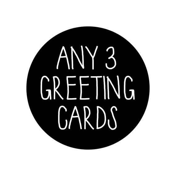 Any 3 greeting cards bulk cards bulk discount bulk pack etsy image 0 m4hsunfo
