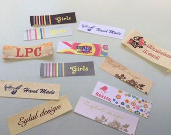 50pcs. Custom Design  Full Colour Printed label