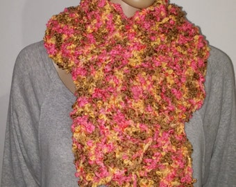Knitted scarf in candy colors