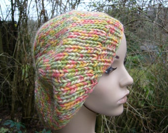 Beret in spring colors