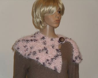 Knitted collar pink with violet