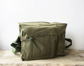 Vintage Military Bag,Green Cotton Canvas Messenger Bag,Army Canvas Bag,Crossbody bag,Cold war,USSR,iPad bag,Unisex bag,Shoulder bag