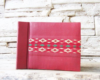 Vintage Red Photo Album Soviet Era Photography Album Handmade Wedding Photo Album Wedding Picture Album Retro Picture Folk Art Embroidery