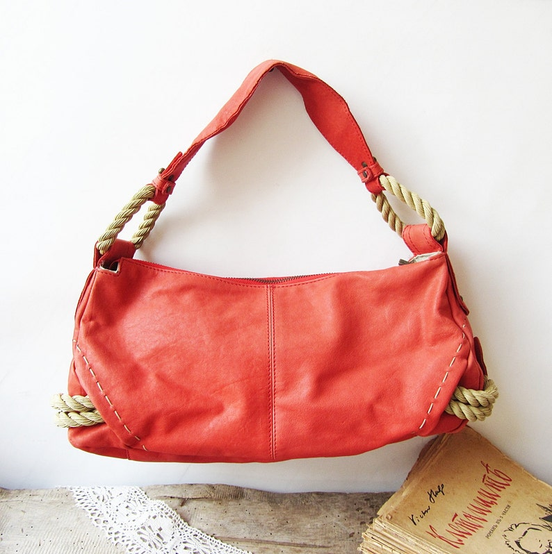 Cuoio rosso vintage italiano womens borsa Innue borsa  ad1ceb281335