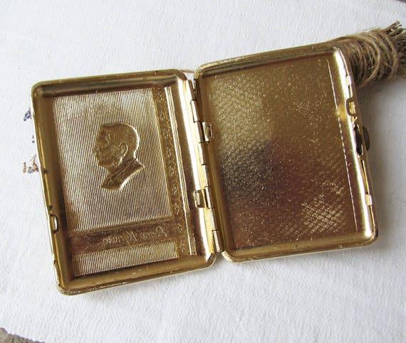 Russische Vintage Metall Zigarettenetui Alte Metallbox Zigarettenspitze Raucher Zubehör Udssr 70er Jahre Tabak Case Aufbewahrungsbox