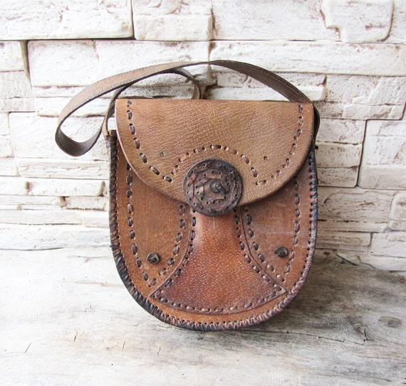 TascheLedertasche Damen Vintage 70er JahreRetro AccessoiresHippie UmhängetascheLedertascheLeder vNnm80wO