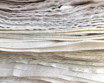 Vintage linen napkins, White linen napkins, White small linen, Cottage style napkins, Farmhouse napkins, Rustic home decor, Woven napkins