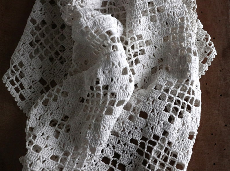 29x17 Size Crochet Lace Tablecloth Doilies Danish Laces Etsy