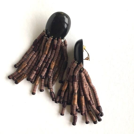 Monies earrings, Gerda Lynggaard earrings, Brown … - image 3