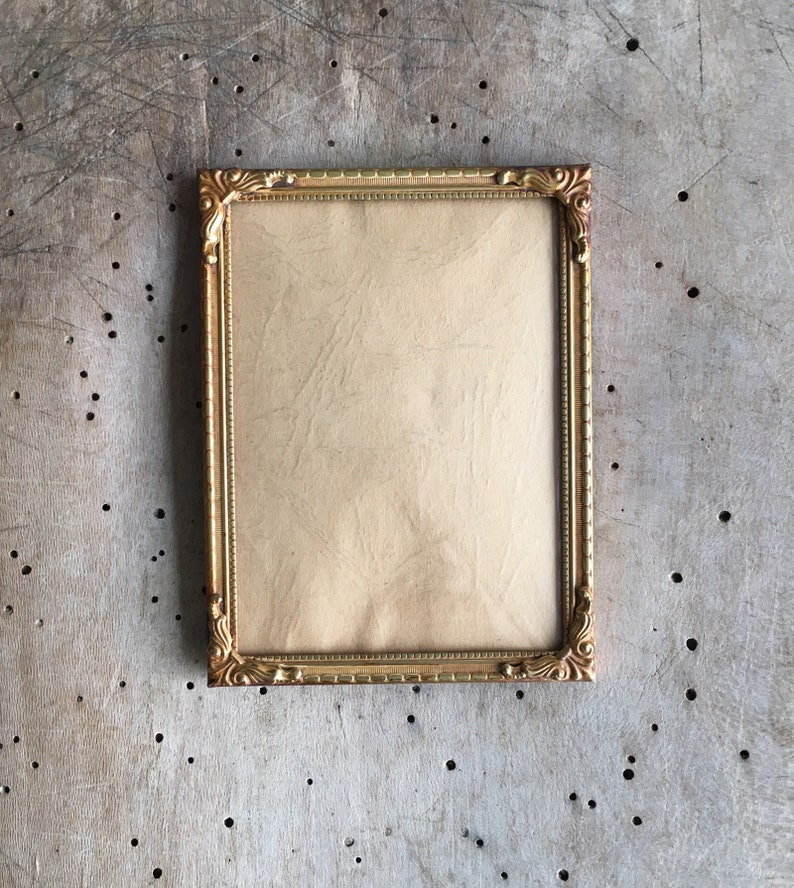 8x10 inch Brass Plated Metal Picture//Photo or Document Frame lot of 4 with Glass