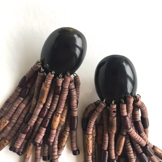 Monies earrings, Gerda Lynggaard earrings, Brown … - image 9
