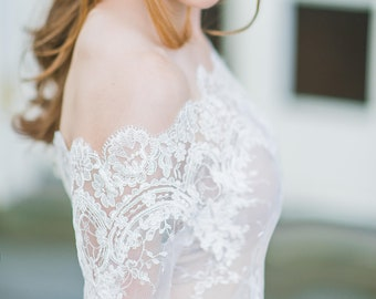 fe0df7c2bd2 Plus size wedding lace cover up