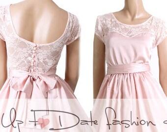 90s Pale Pink Dress Etsy