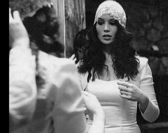 Bridal tafetta white shrug/ jacket /wedding bolero/shrug/long sleeve