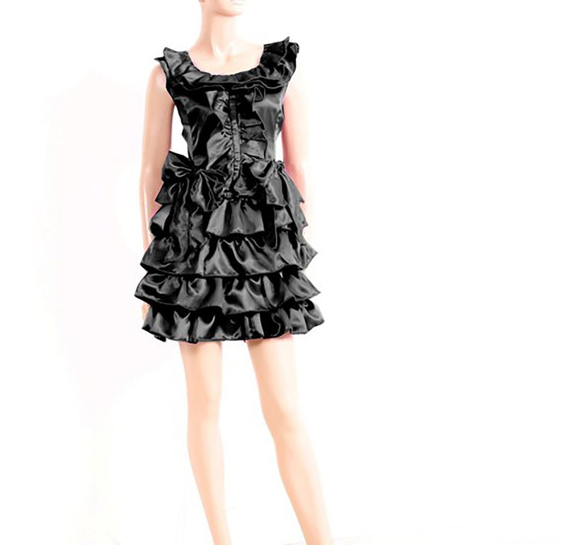 3ccdba184 Black Junior Bridesmaid Dress short Flower Girl layered   Etsy