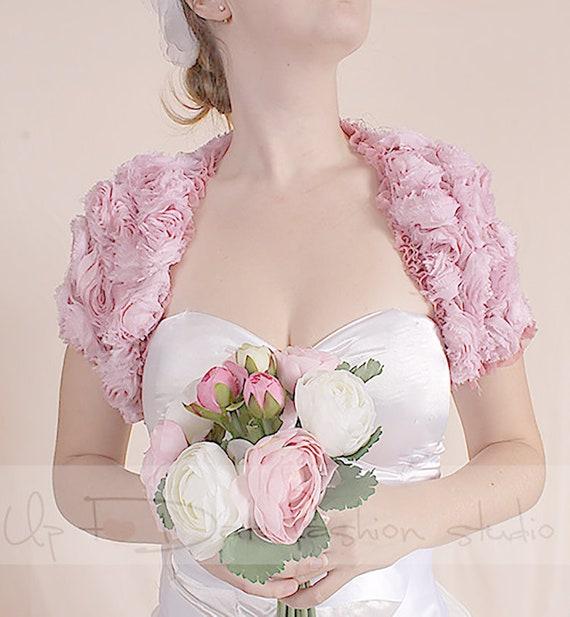 Dentelle D Bolero Mariée De Rose Etsy Blush 3 Veste Mariage UYqR8Bq
