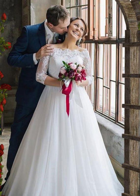 0a1fc1c043f Plus size lace wedding topper off shoulder bridal cover up