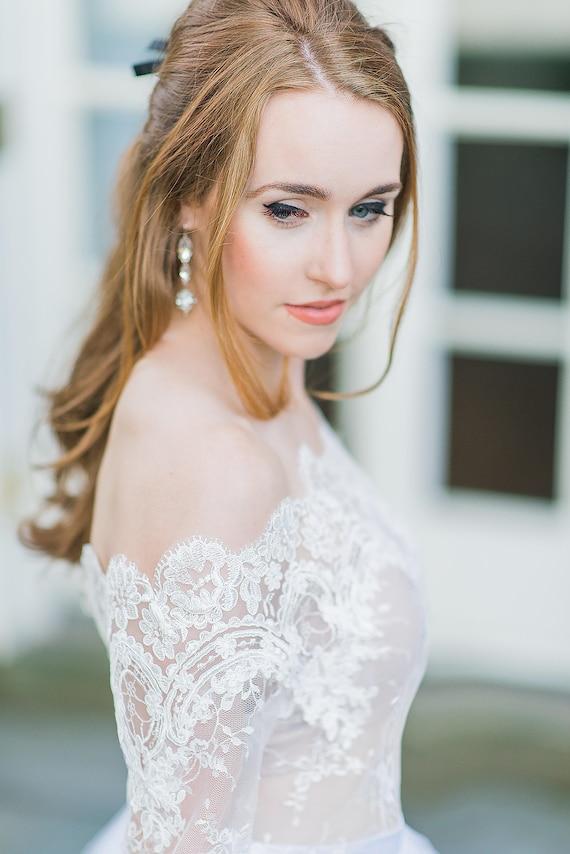 Plus Size Wedding Lace Cover Up Off Shoulder Bridal Bolero Etsy
