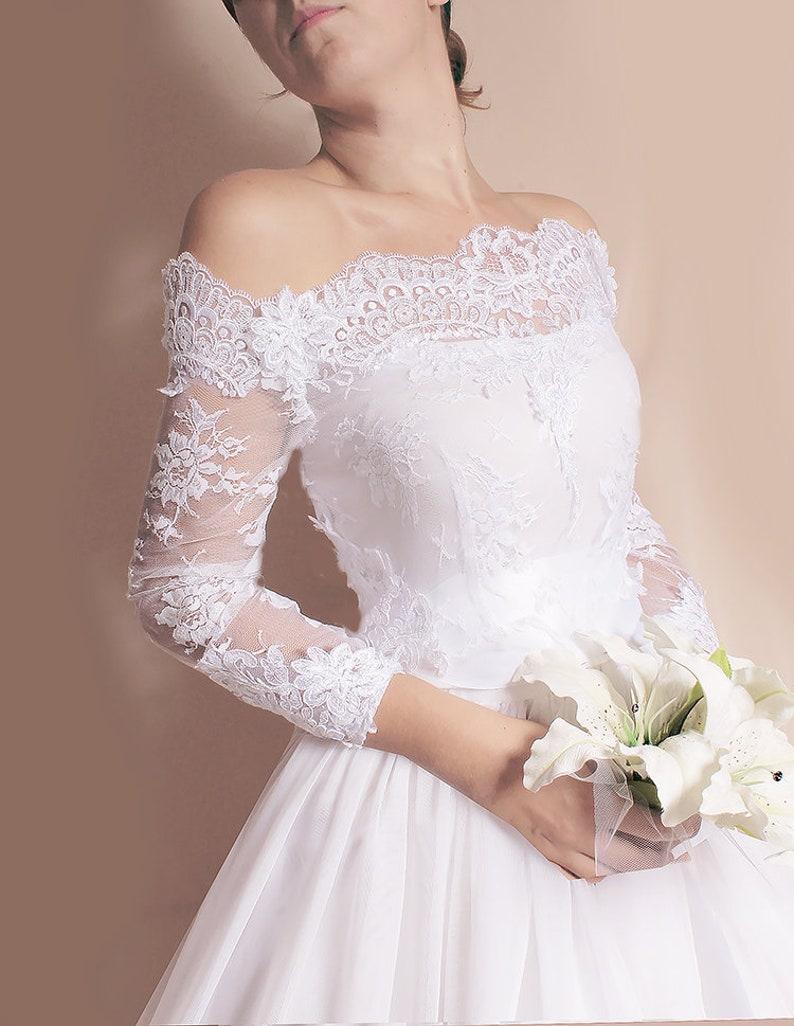 d129777cd68 Plus Size lace cover up Off-Shoulder wedding bolero custom