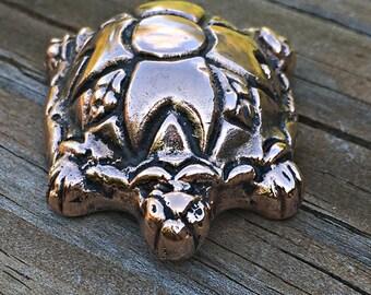Copper Turtle Figurine
