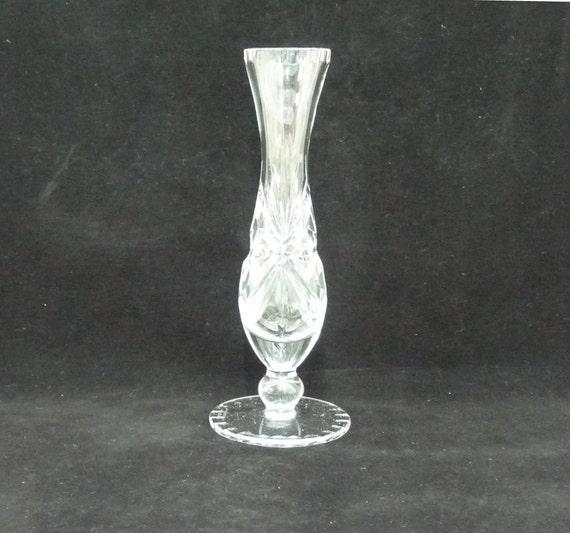 Edinburgh Crystal Vase Tall Bud Vase Cut Glass Crystal Fan Etsy