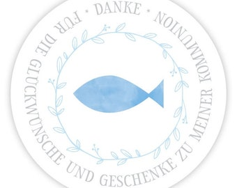 Personalized Stickers Fish Watercolor