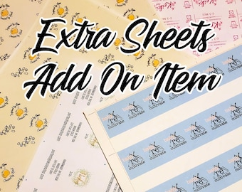 Add additional sheets to your order.