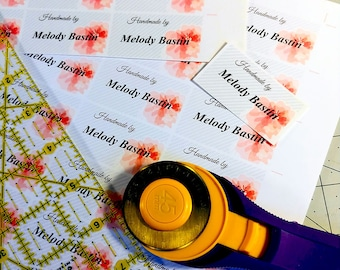 DIY Fabric Labels, Instant Download, Editable PDF, Custom Designs, Your Name, Your Logo, Print Any Amount!