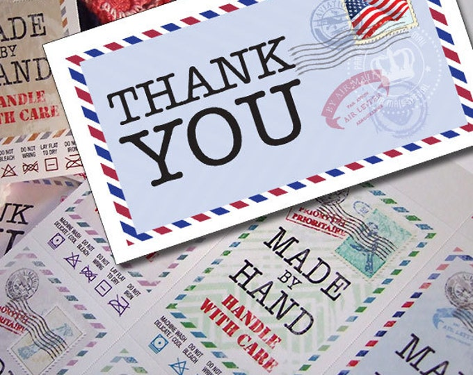 Thank You Cards or Tags for Handmade Gifts or Craft Products