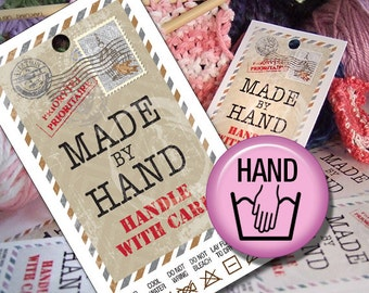 Hand Wash Laundry Care Tags, Printables,  Hand Made Gifts or Sales