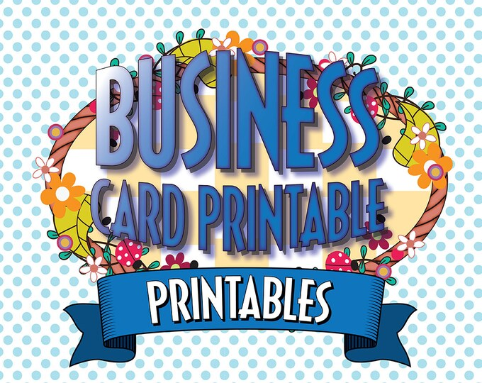 Business Card Artwork for Printing