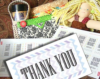 Thank You Card Printables: THANK YOU Cards With Chevrons